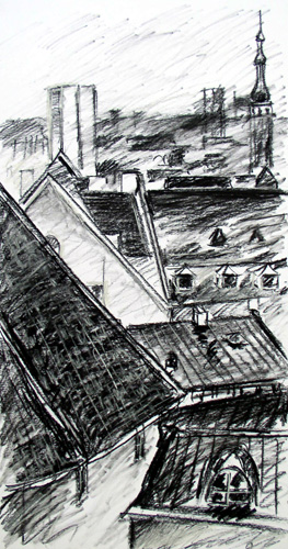 Roof Study in Charcol