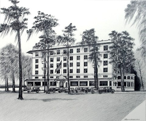 April The Haven Hotel Winter Built Circa 1922